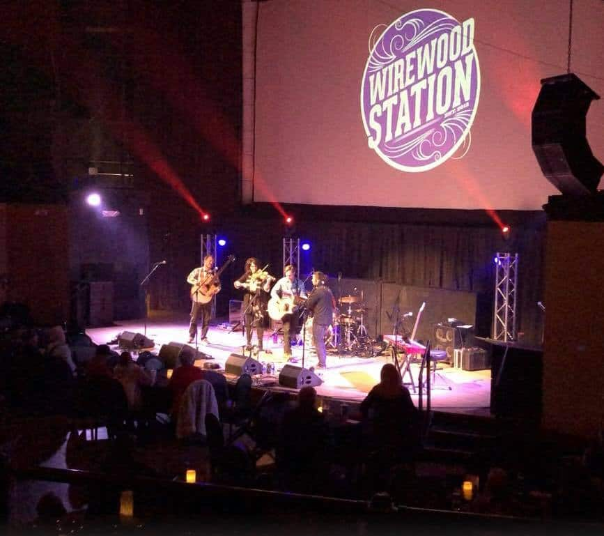 WireWood Station on Stage